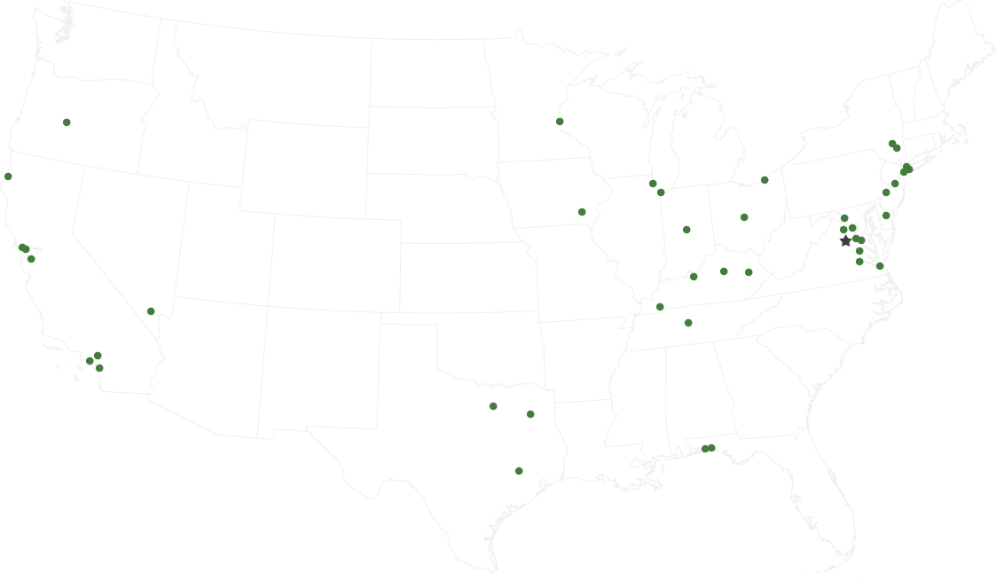 Above Green Projects Locations Map